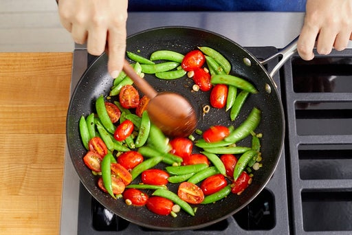 Start the vegetables