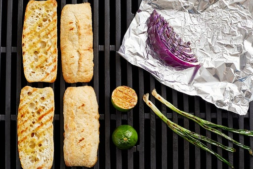 Grill the vegetables & baguettes