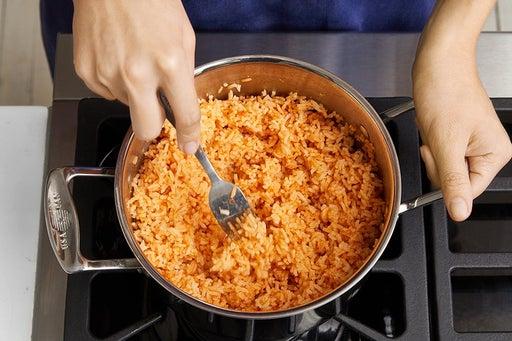 Make the gochujang rice