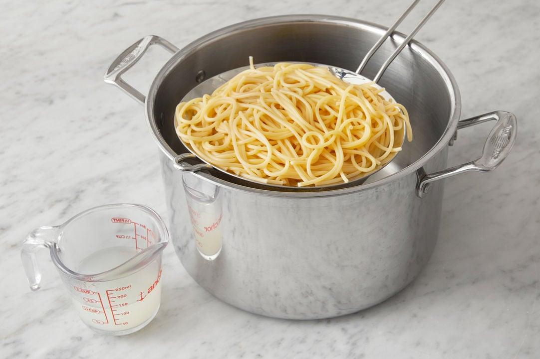 Cook the spaghetti: