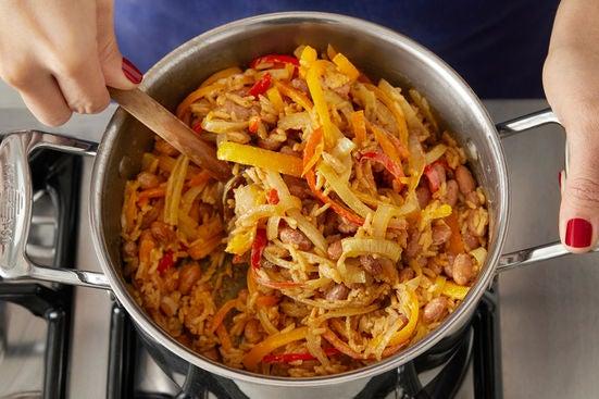 Cook the vegetables & make the filling: