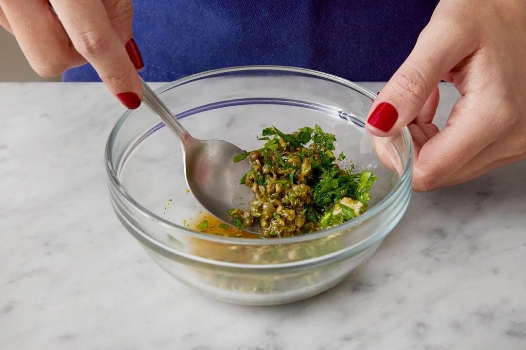Make the salsa verde: