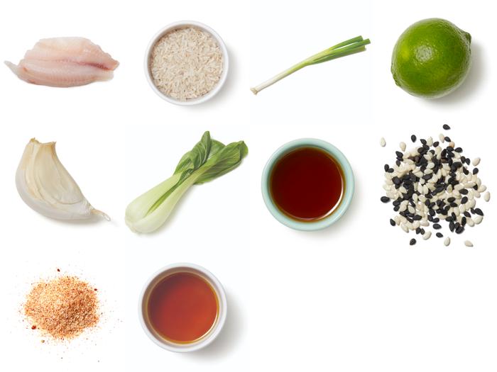 Honey-Lime Tilapia with Bok Choy & White Rice