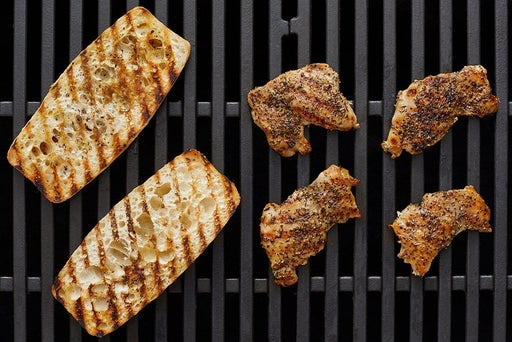 Grill the chicken & toast the baguette