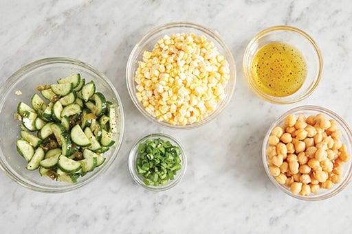 Prepare the ingredients & make the vinaigrette