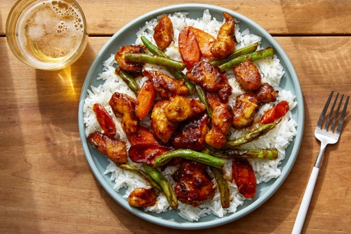 Sesame-Soy Chicken Stir-Fry with Carrots & Green Beans