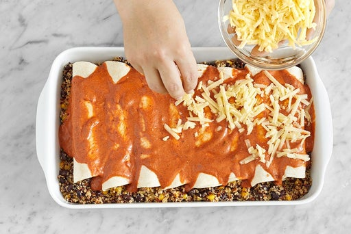Assemble the enchiladas