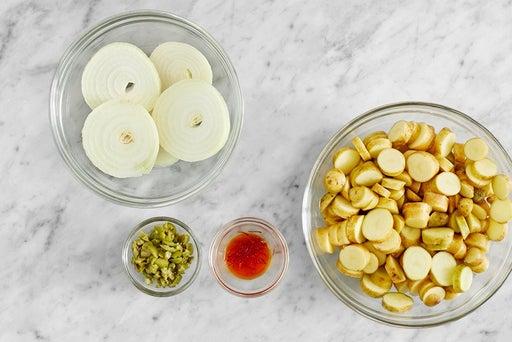 Prepare the ingredients & bloom the saffron