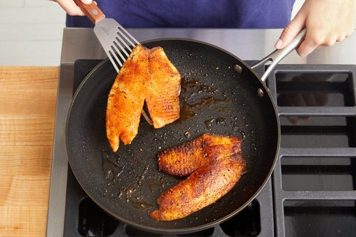 Cook the fish & serve your dish