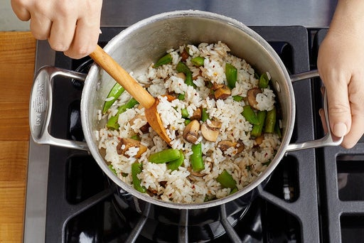 Finish the rice & serve your dish