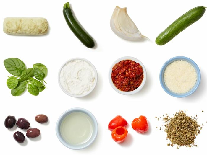 Zucchini & Ricotta Sandwiches with Spinach & Cucumber Salad