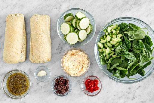 Prepare the ingredients & make the Italian dressing
