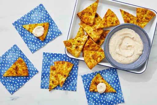 Toasted Curry Pita Chips with Spicy Mango Chutney Dip