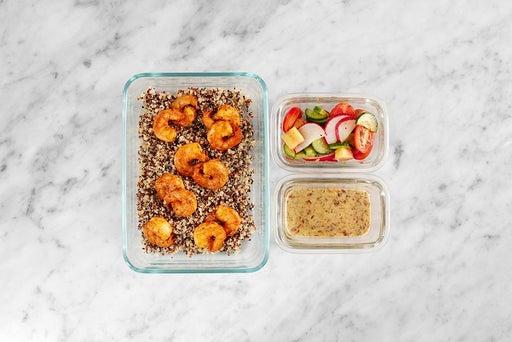 Assemble & Store the Smoky Shrimp & Quinoa