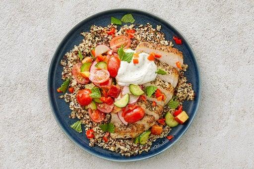 Finish & Serve the Oregano Pork & Quinoa