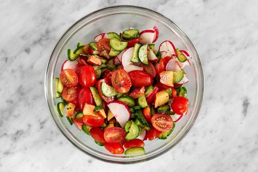 Prepare & marinate the vegetables