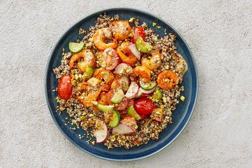 Finish & Serve the Smoky Shrimp & Quinoa