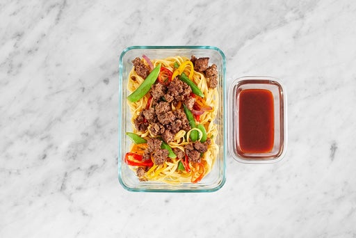 Assemble & Store the Spicy Soy-Glazed Beef