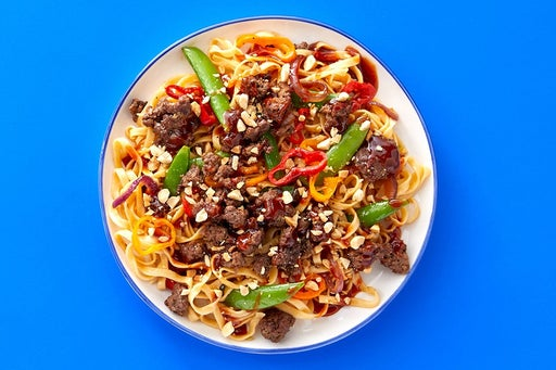Finish & Serve the Spicy Soy-Glazed Beef