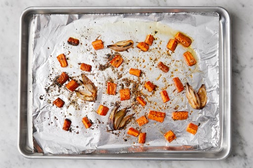 Roast the vegetables: