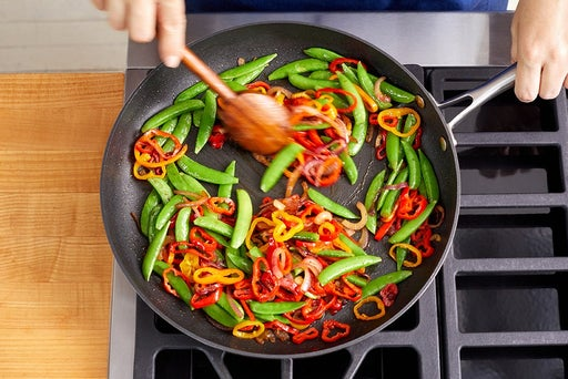 Cook the vegetables & finish the noodles