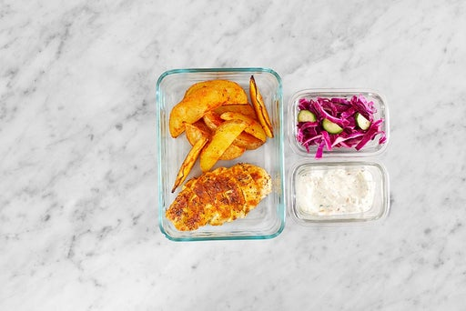 Assemble & Store the Shawarma Chicken Pitas