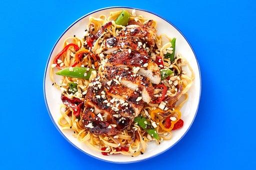 Finish & Serve the Sesame-Hoisin Chicken
