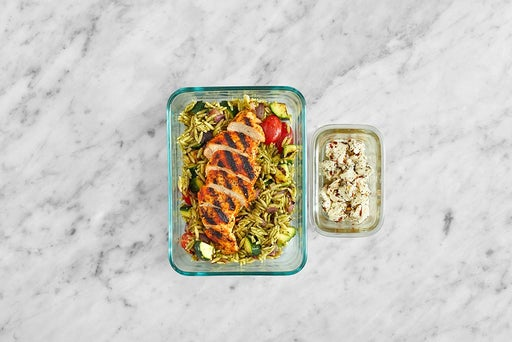 Assemble & Store the Smoky Chicken & Almonds