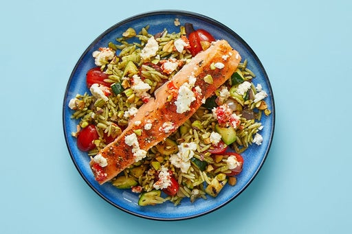 Finish & Serve the Pepper-Feta Salmon