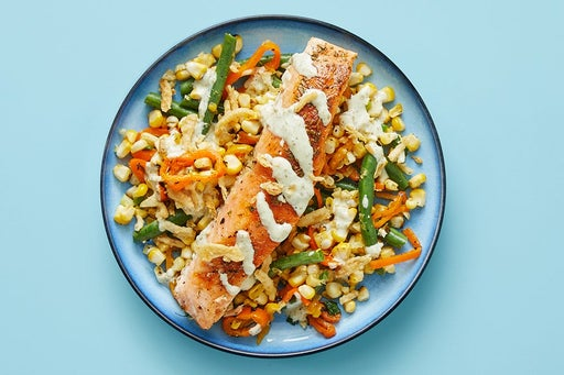 Finish & Serve the Salmon & Yuzu Mayo