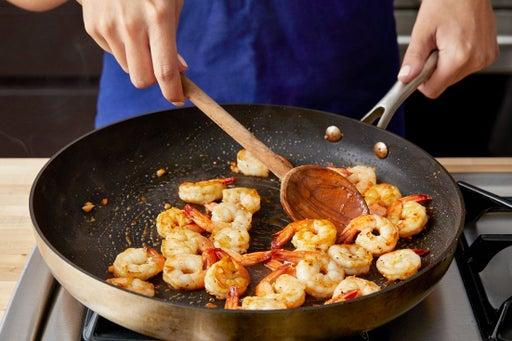 Cook the shrimp & serve your dish