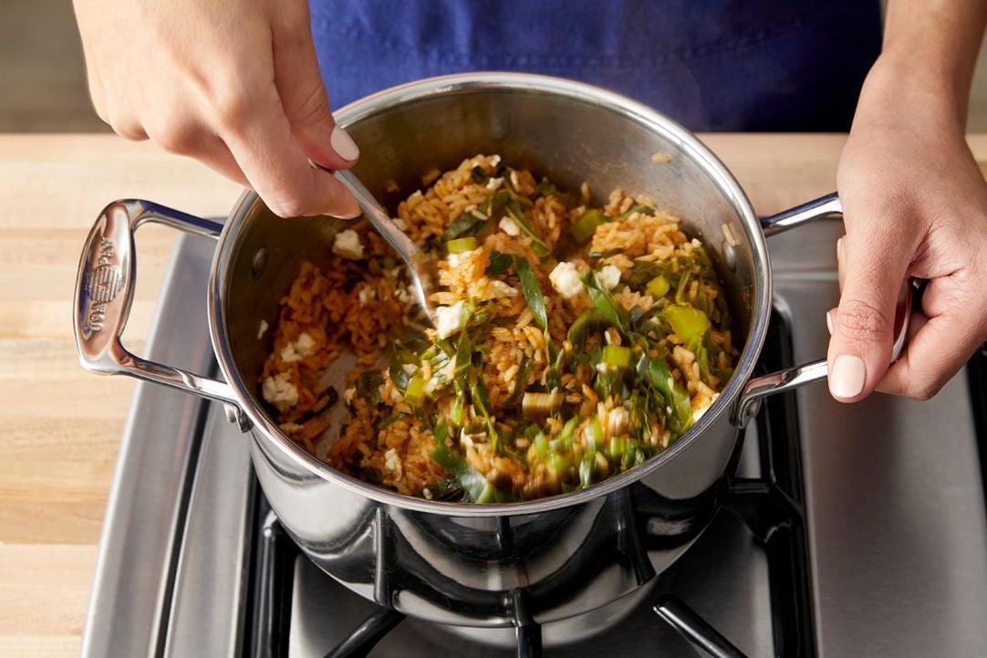Make the collard green rice: