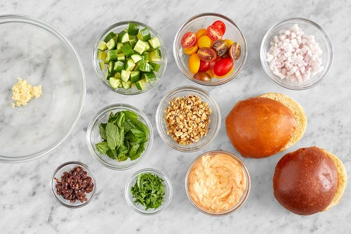 Prepare the ingredients & make the spicy feta
