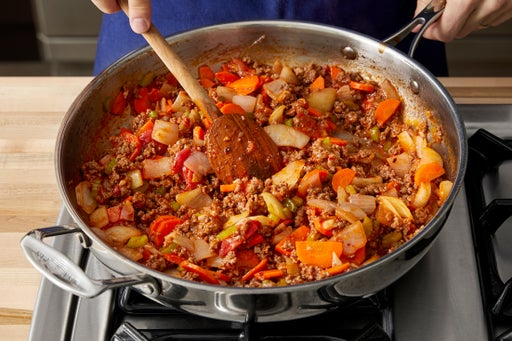 Finish the bolognese:
