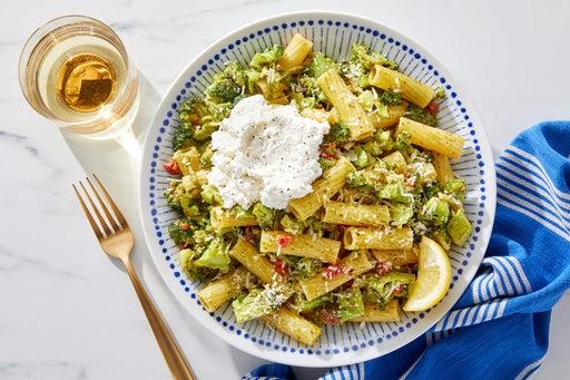 Pesto Pasta with Broccoli & Lemon Ricotta