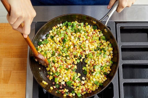 Cook the pancetta & vegetables