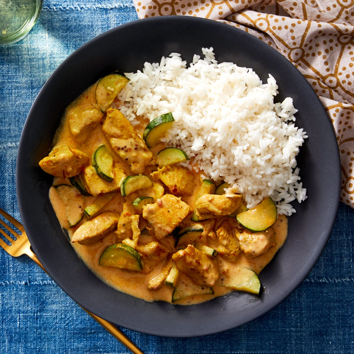 Spiced Tomato & Coconut Chicken with Garlic Rice