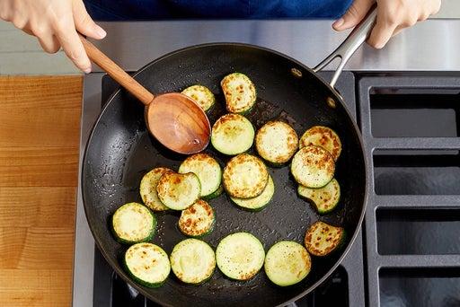 Cook & dress the zucchini