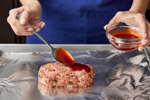Form & glaze the meatloaf: