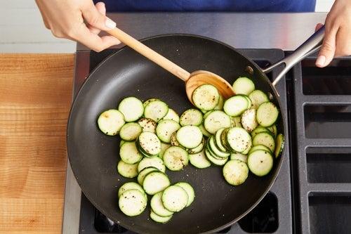 Cook the zucchini