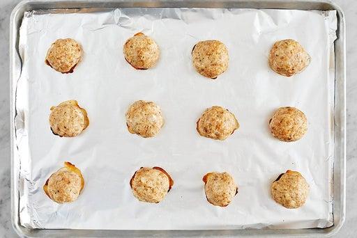 Form & bake the meatballs