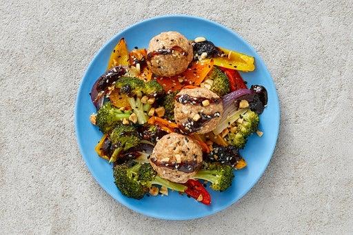 Finish & Serve the Hoisin-Sesame Turkey Meatballs