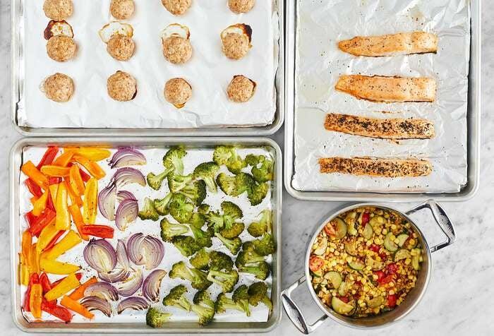 Salmon & Turkey Meatballs Meal Prep Bundle