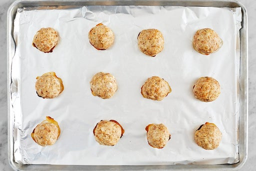 Form a & bake the meatballs