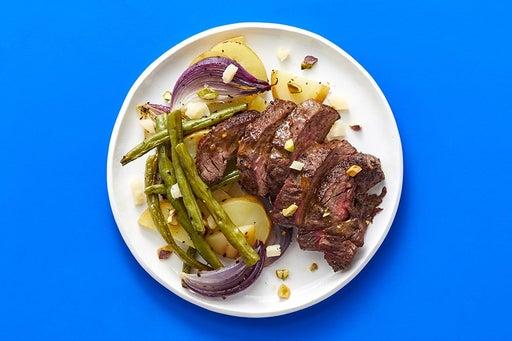 Finish & Serve the Balsamic-Dijon Steak