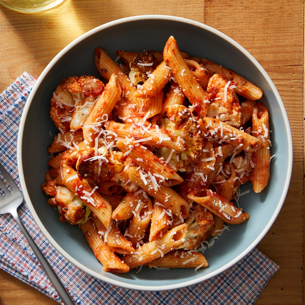 Creamy Tomato Penne with Roasted Cauliflower