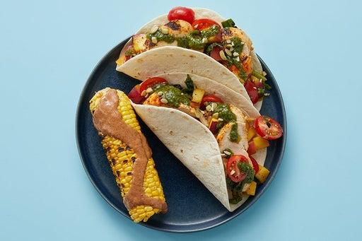 Finish & serve the Cilantro Chicken Tacos