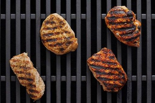 Grill & slice the pork