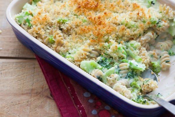Cheesy Broccoli Rotini Casserole