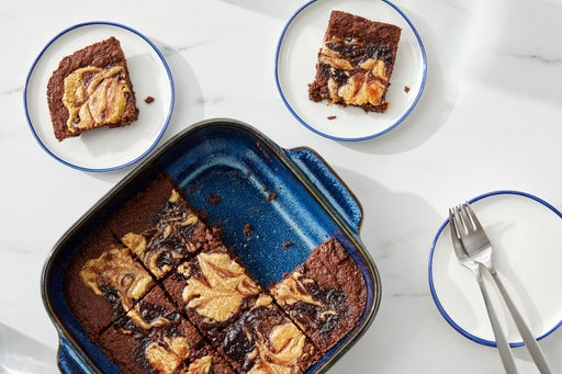 Chocolate Brownies with Peanut Butter & Cherry Swirl